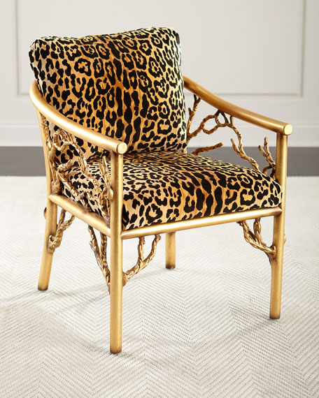 John Richard Collection Leopard Branch Chair