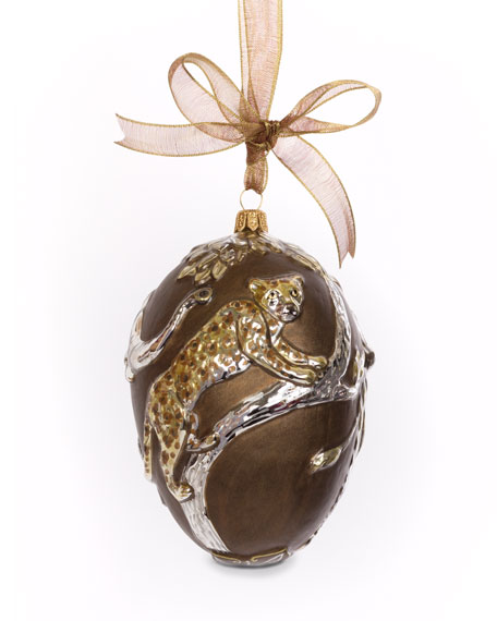 Gilded Safari Egg Ornament