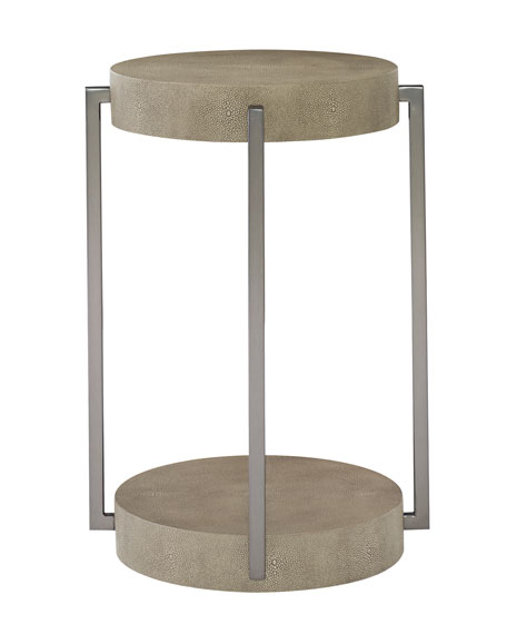 Aletha Stainless Steel Accent Table