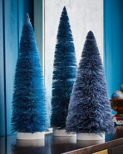 Set of 3 Large Trees, Blue