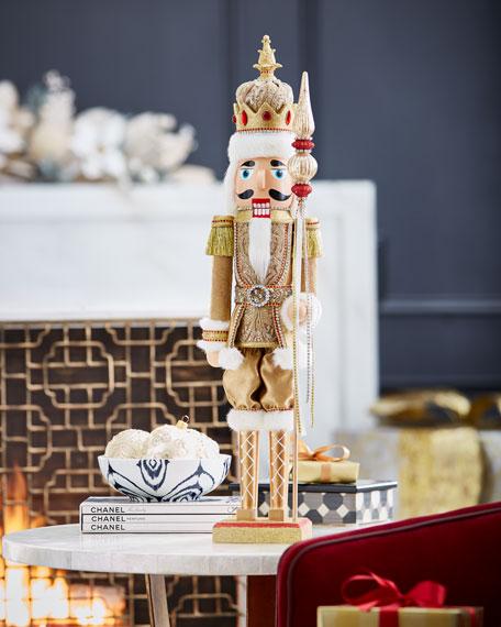 "Gold & Glitter Collection Nutcracker, 24"""