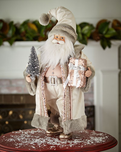 Blush & Pewter Collection Holiday Santa, 18