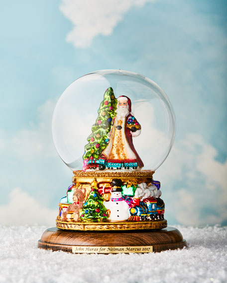 John Huras Santa in Globe Ornament