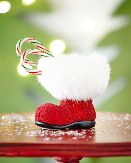 Red Santa Boot Collectible