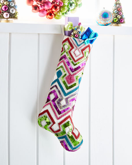 Playful Brights Collection Chevron Stocking