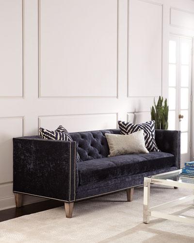 Danton Tufted Back Midnight Sofa