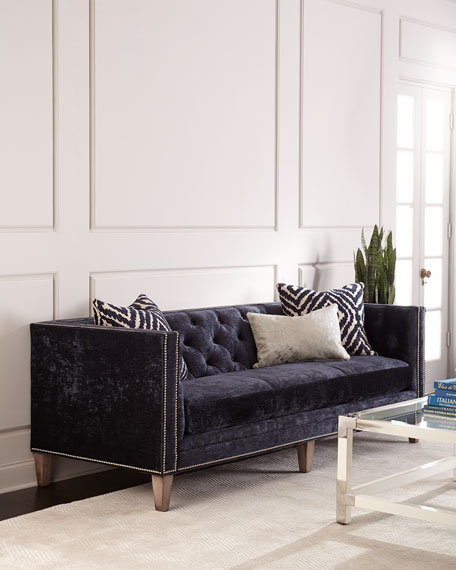 Massoud Danton Tufted Back Midnight Sofa
