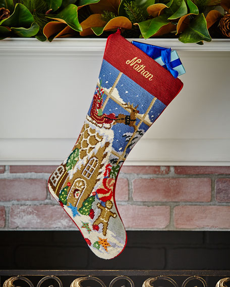 Christmas Goodies Needlepoint Stocking