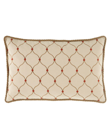 "Marguerite Ogee Pillow, 17"" x 26"""