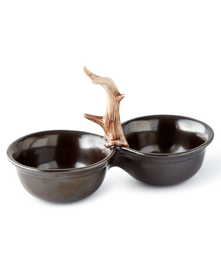 Forest Pewter 2 Bowl Server