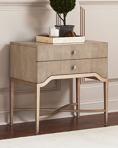 Sabeen Two Drawer Nightstand