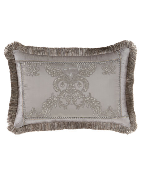 "Prestige Pillow with Brush Fringe, 14"" x 20"""