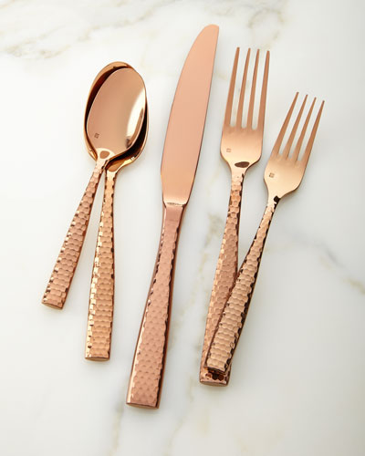 20-Piece Lucca Rose Golden Flatware Service