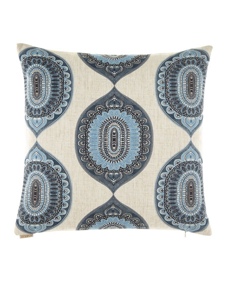 "Traveler Indigo Pillow, 24""Sq."