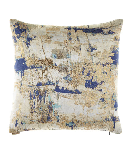 "Mineral Sapphire Pillow, 22""Sq."