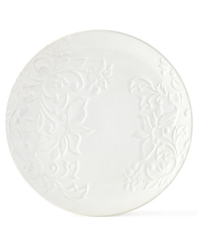 Etched Floral Plates  Set of 2
