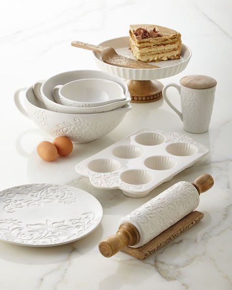 Etched Floral Rolling Pin & Boat Gift Box Set