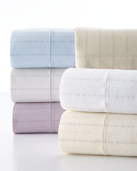 California King Classic Stripe 310 Thread Count Sheet Set