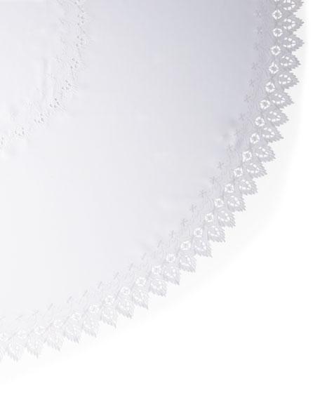 "Zella 90"" Round Tablecloth & 12 Napkins"