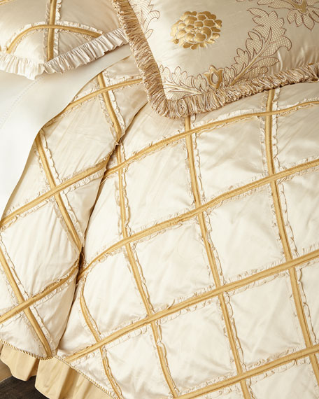 Austin Horn Collection Ruffled Diamond Queen Duvet Cover