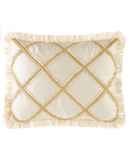 Ruffled Diamond King Sham