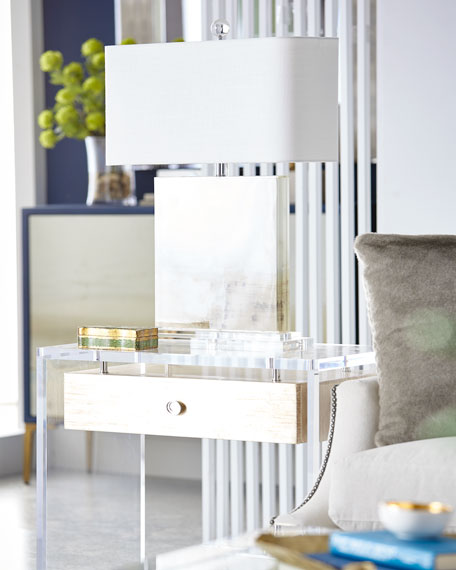 Eunice Acrylic Side Table