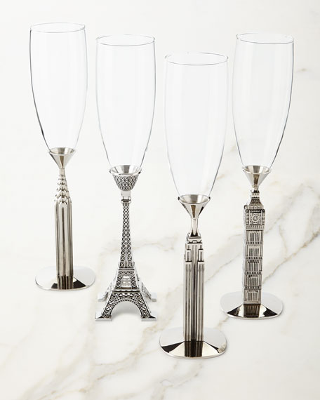 Godinger Traveler Champagne Glasses, Set of 4