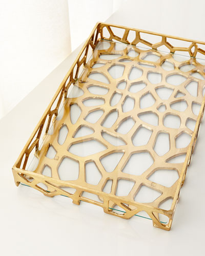 Organic Iron Tray with Glass
