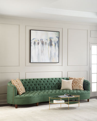 Vaughn Tufted Velvet Sofa