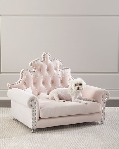 Isabella Dog Bed  Blush