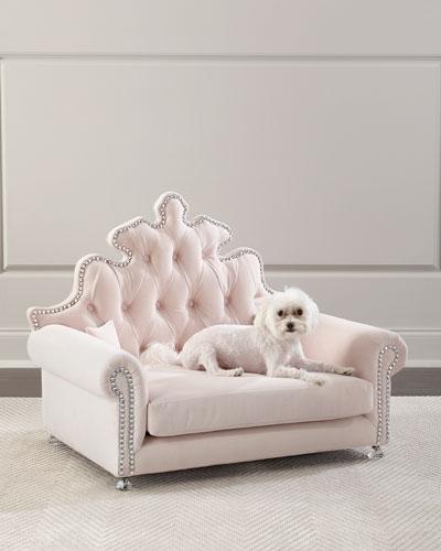 Isabella Dog Bed  Blush