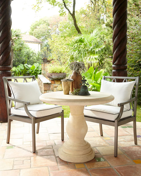Bistro Table - Bistro Table And Charlotte Outdoor Dining Armchair