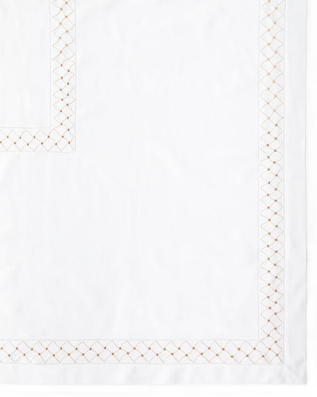 "Madeira Dots Tablecloth, 66"" x 86"""