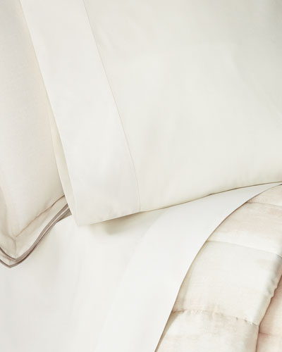 Striated Band Standard Pillowcases  Set of 2