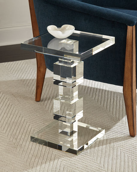 John-Richard Collection Duchess Crystal Cube Side Table