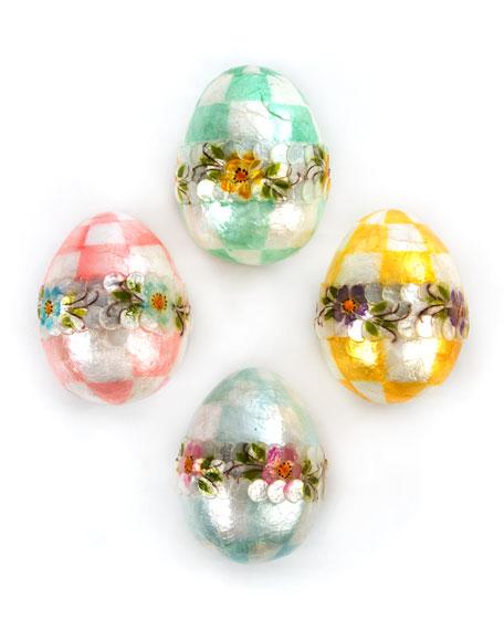 Pastel Medium Floral Eggs, Set of 4