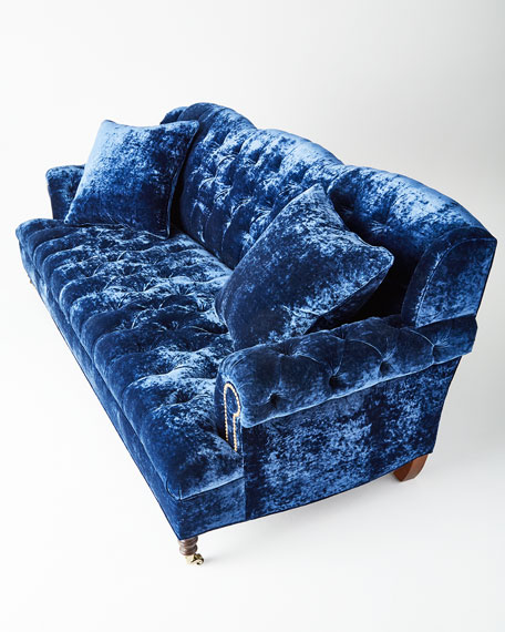 Divine Tufted Crushed Velvet Sofa