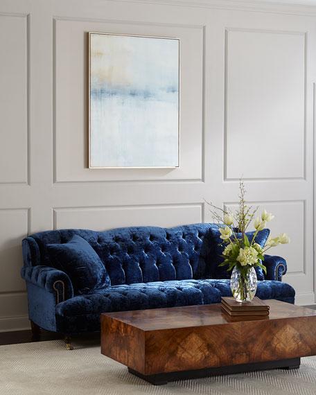 Divina Tufted Crushed Velvet Sofa