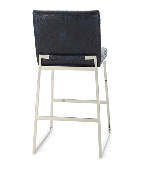Adrift Leather Bar Stool