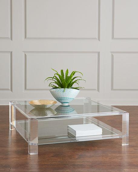 Landis Acrylic Square Coffee Table