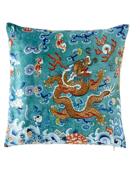 Dragon Green West Pillow