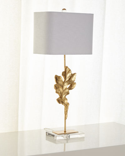 Gold Oak Leaf Table Lamp