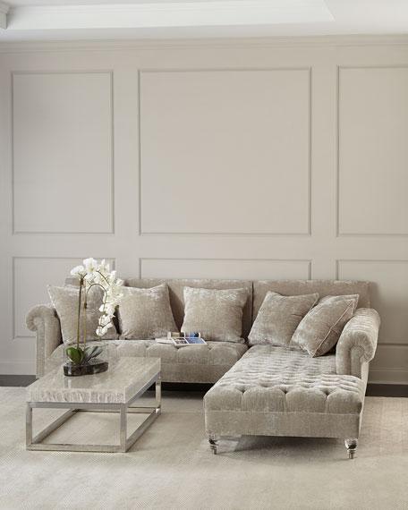 Haute House Divine Crushed Velvet Right-Chaise Sectional
