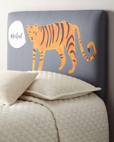 Tiger Twin Headboard  Personalized