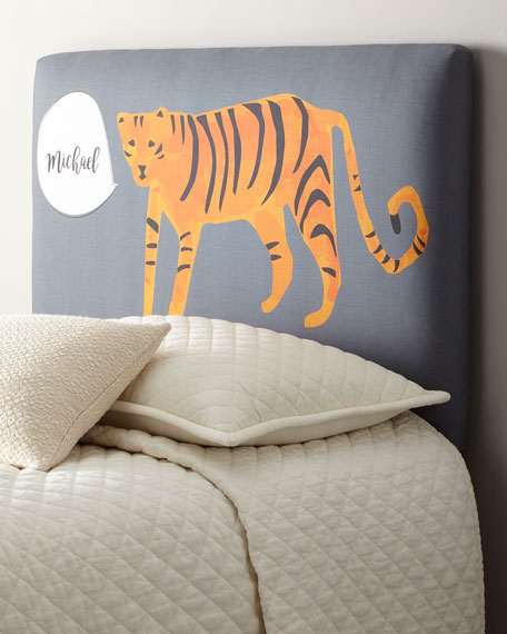 Tiger Twin Headboard, Personalized