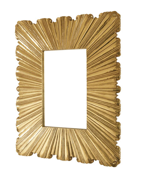 Linen Fold Brass Mirror