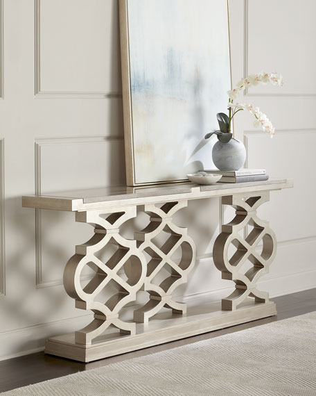 Seth Lattice-Style Console Table