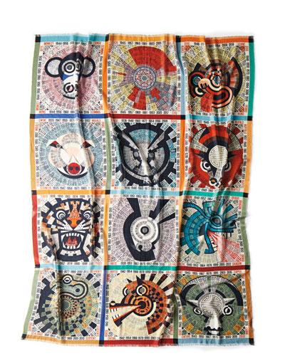 Oroscopo Wool Gauze Throw Blanket  55 x 70