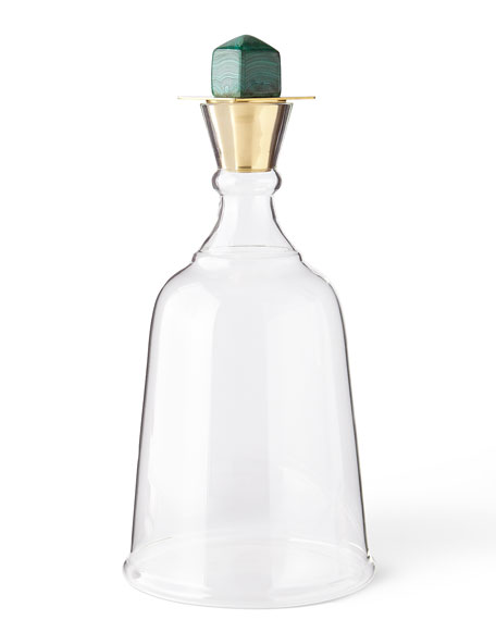 Gold Levi Malachite Decanter