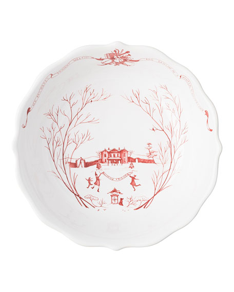 Juliska Country Estate Winter Frolic Ruby Serving Bowl
